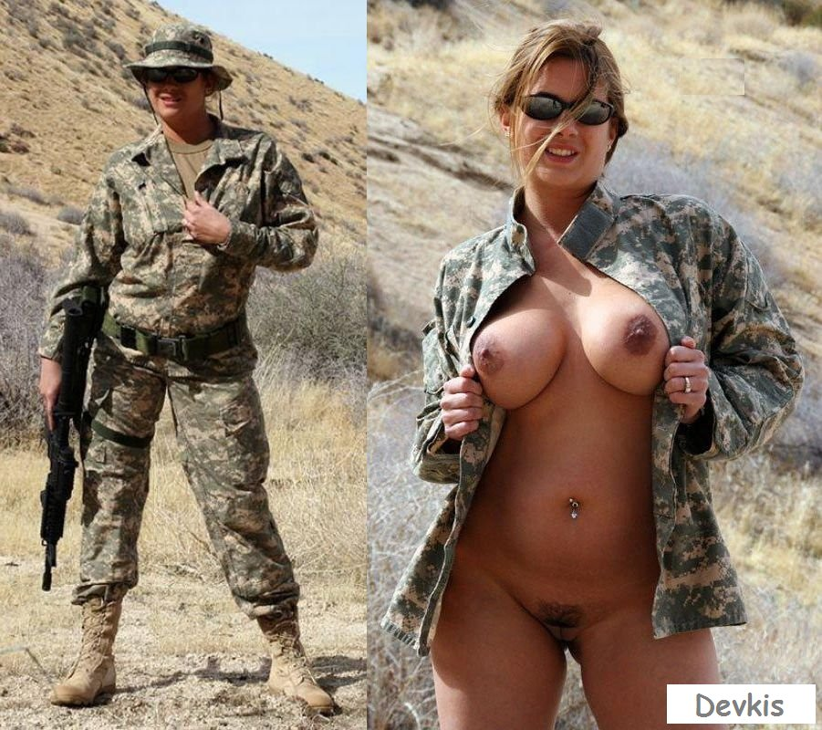 Nude Army Women In Uniform