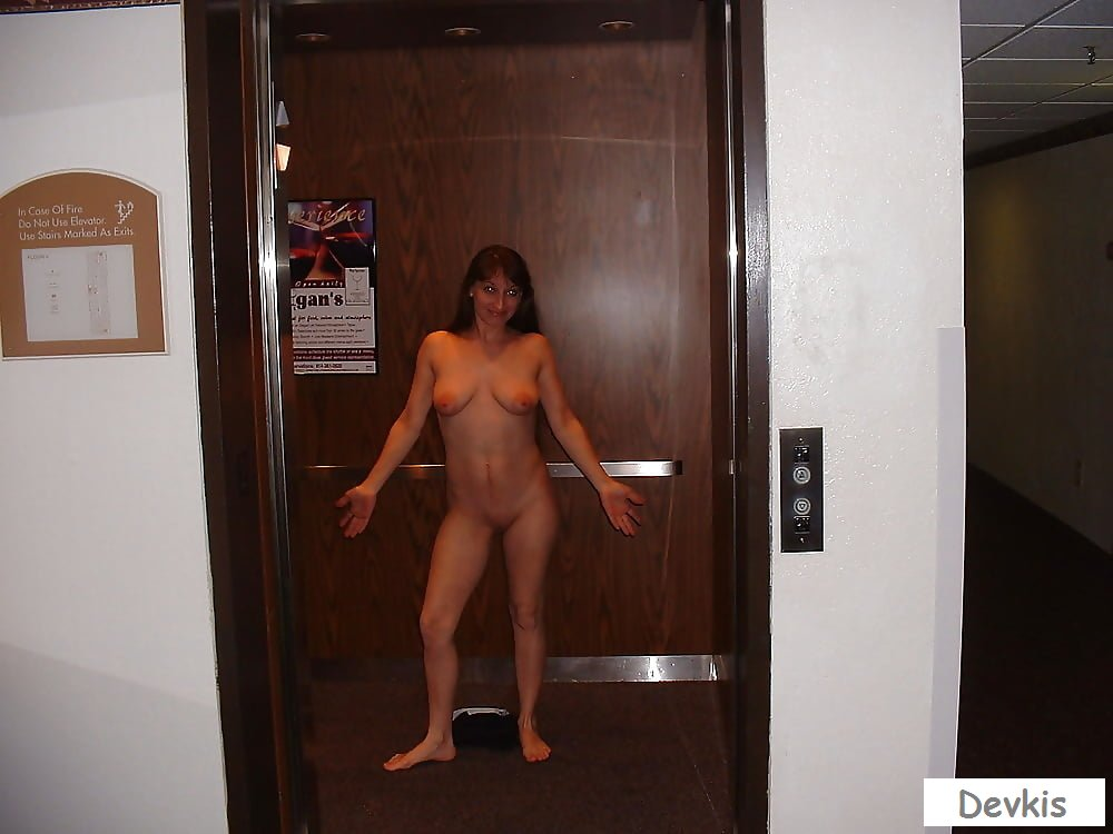 Elevator nude by feather